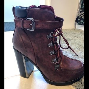 Torrid oxblood lace up combat boot size 7.5 wide